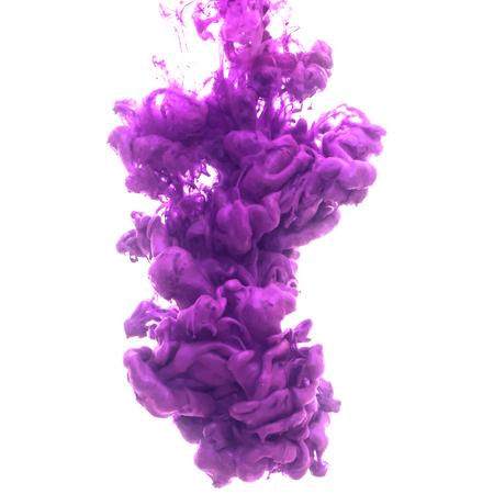 Vector abstracte wolk. Inkt al roerend in water, wolk van inkt in het water geïsoleerd op wit. Banner verven. Holi. Vloeibare inkt. Achtergrond voor banner, kaart, poster, poster, identiteit, web design.Juice.