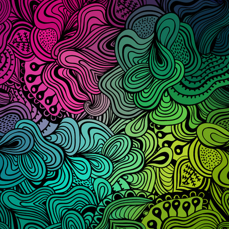 waves abstract: Vector abstract hand-drawn waves texture, wavy background. Colorful waves backdrop