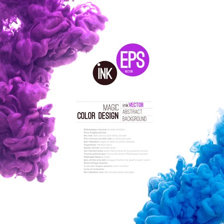 colour splash: Vector abstract cloud. Ink swirling in water, cloud of ink in water isolated on white. Abstract banner paints. Holi. Liquid ink. Background for banner, card, poster, poster, identity,web design.Juice.