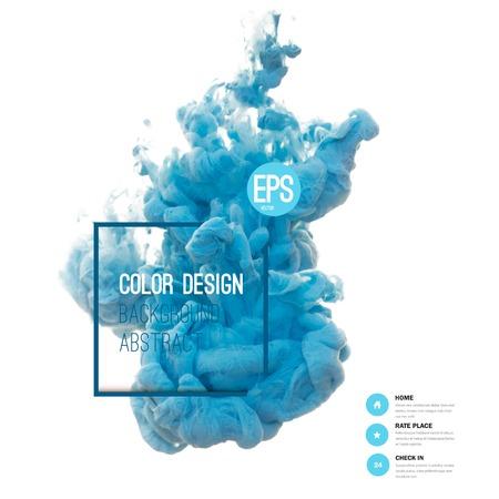 ベクトル抽象的な雲。インク水、白で隔離水でインクの雲で渦巻きます。抽象的なバナーを描画します。ホーリー。液体のインク。バナー、カード  イラスト・ベクター素材