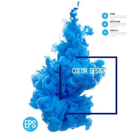 abstrakt: Vector abstrakt moln. Bläck virvlande i vatten, moln av bläck i vatten isolerade på vitt. Abstrakt banner färger. Holi. Flytande bläck. Bakgrund för banner, kort, affisch, affisch, identitet, webb design.Juice. Illustration