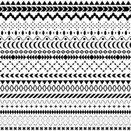 tribales: Seamless vector textura tribal. Perfecta textura tribal. Vintage telón de fondo sin fisuras étnicas. Rayas Boho. Rayas boho de cosecha de fondo del modelo del estilo de la moda con elementos de forma tribales Foto de archivo