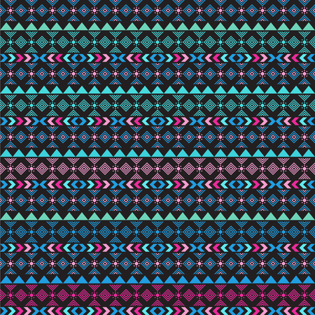 mexican background: Seamless vector tribal texture. Tribal seamless texture. Vintage ethnic seamless backdrop. Boho stripes. Striped vintage boho fashion style pattern background with tribal shape elements
