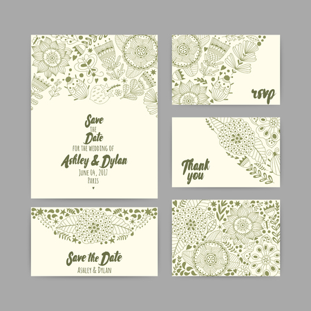 marriage invitation: Wedding Invitation Template. Invitation, envelope, thank you card, save the date cards. Wedding set. RSVP card. Marriage event. Valentine Day cards