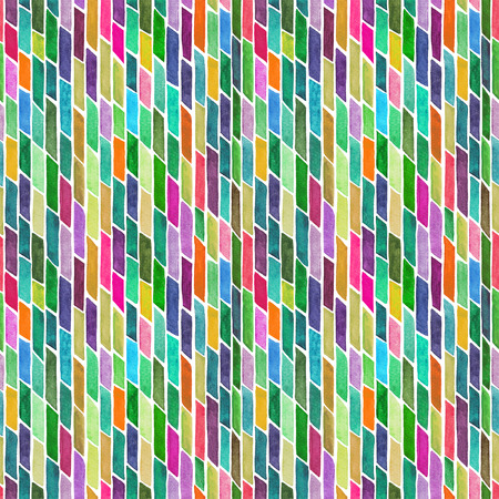 wet paint: Abstract background with hand painted watercolor stripes or bricks