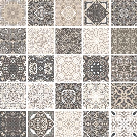 Traditional ornate portuguese decorative tiles azulejos. Illustration