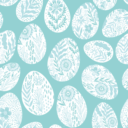 Seamless eggs pattern on the Easter theme.