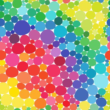 Vector Rainbow circles seamless pattern. Vitamin concept. Ilustração