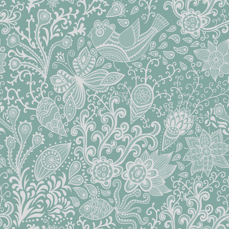 Ornate floral seamless texture, endless pattern with flowers. Seamless pattern can be used for wallpaper, pattern fills, web page background, surface textures. Gorgeous seamless floral background. Ilustracja