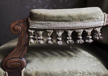 vintage furniture: Detail on vintage furniture couch