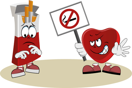 smoking ban: Heart protests against smoking with a poster