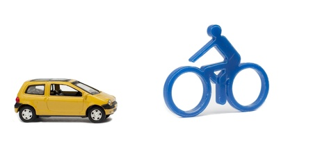 Car versus bike Stock Photo - 16317162