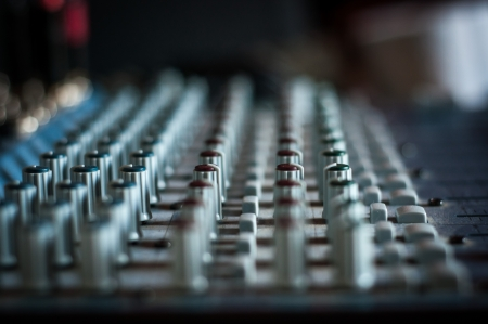 Proffesional audio mixing board photo
