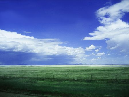 Background of Sky and Grass photo