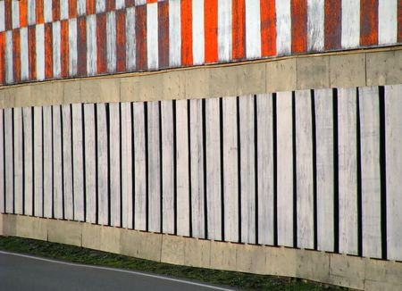 overrun: Reflective Runway Barrier Fence on the perimeter of a small airport