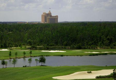 Campo de golf de Florida Resort Skyline fue capturado en Orlando en los alrededores de Orlando Florida.
