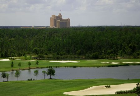Florida Golf Course Resort Skyline was captured in Orlando in the vicinity of Orlando Florida.