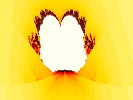 come in: Firey Embrace Abstract Fractal is a background that represents to bodies  as they come together as one in the upper shape of a heart. Stock Photo