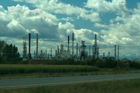 Natural Gas or Oil Refinery v2  Stock Photo - 3596286