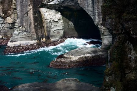 continental united states: Cape Flattery Water Cave on the Pacific Ocean. Cape Flattery is the northwestern most point of the continental United States in Washington State.