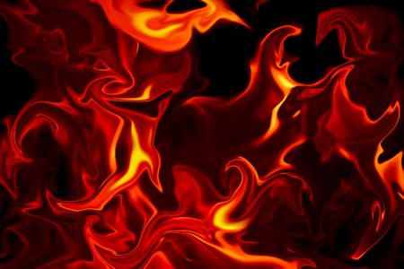 Flames of Fire texture against a black background.