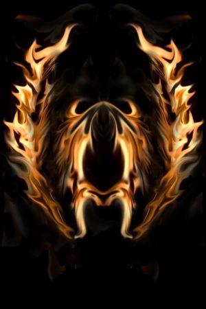 Flaming Wings of Fire and fondo de Flames.