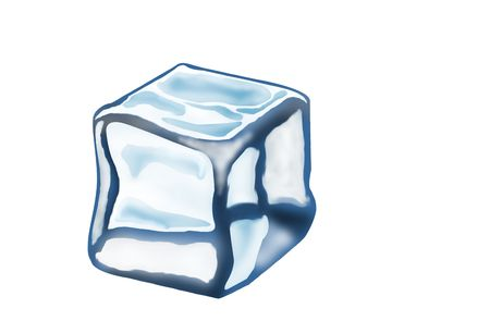 Melting Ice Cube Isolated on a White Background. Stock Photo - 5903807