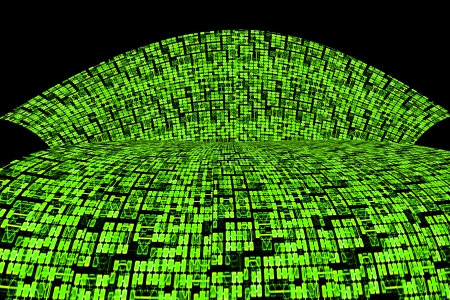 Green Circuit Board or Information Super Highway Abstract Background Design