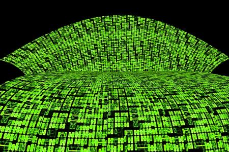 Verde placa de circuitos o Super autopista de informaci�n Abstract Background Design