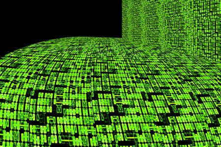 super highway: Green Circuit Board or Information Super Highway Abstract Background Design