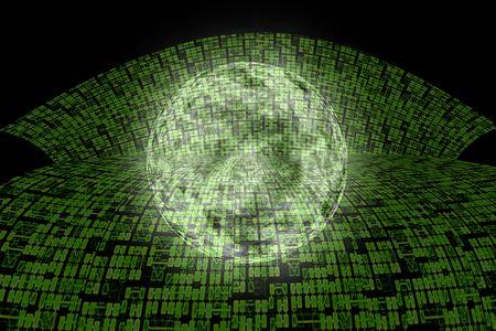 Autopista de Super de informaci�n de Internet para el dise�o de fondo abstracto de mundial.