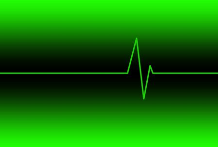 Cardiac Electronic Heart Rate Monitor Display Background Illustration.