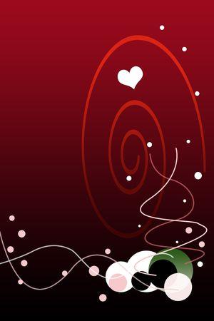 Fondo de degradado rojo de Valent�n con ilustraci�n de Bubbles.