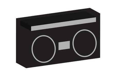 ghetto: Old School Boom Box Ghetto Blaster cassetta Radio con grandi oratori.  Vettoriali