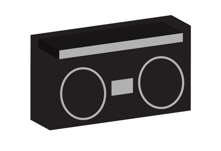 Old School Boom Box Ghettoblaster Cassette Radio met grote luidsprekers.