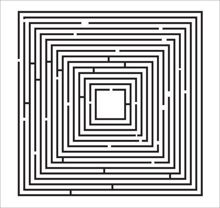Maze Puzzle Illustration on a white background.