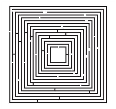 Maze Puzzle Illustration on a white background.