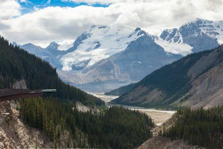 icefield: Columbia Icefield Glacier skywalk view