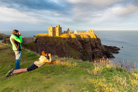 Dunottar castle Scotland Editorial