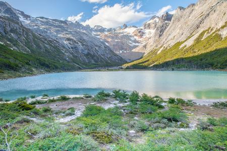 Esmeralda lagoon Patagonia Argentina Ushuaia Banco de Imagens