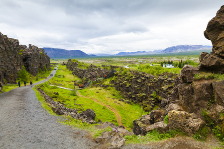 pingvellir iceland in summer