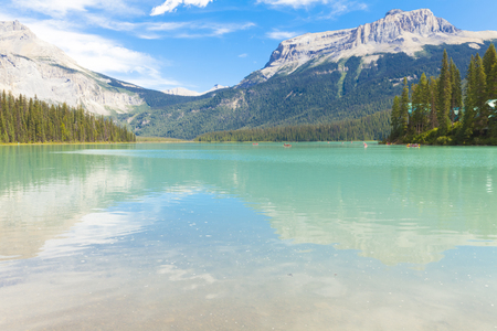 Emerald Lake Yoho National Park, British Columbia, Canada Stock Photo