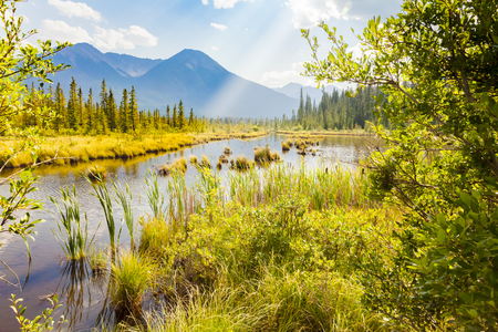 Landscape around Banff Alberta West Canada Stock Photo