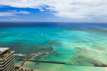 waikiki beach ocean view hawaii oahu honululu