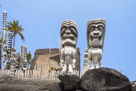 U HEEFT O HONAUNAU NATIONALE HISTORISCHE PARK GROTE EILAND HAWAII