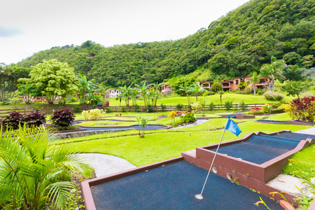 Boquete September 2017: In this valley hidden among the volcanic hills, there is a lush tropical garden with thousands of plants. it is a residence chosen by many foreigners as their second home Stock Photo