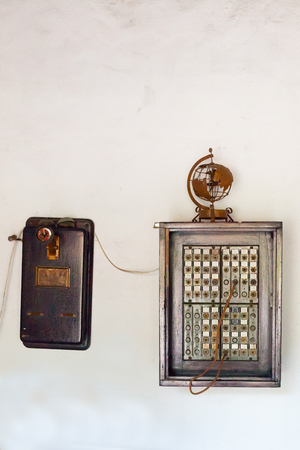 connection connections: old telephone switchboard