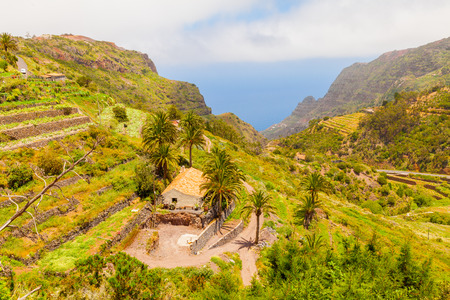Gomera island panorama Canary Spain Stock Photo