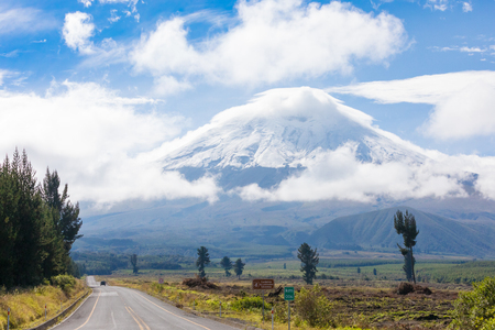 Cotopaxi Ecuador May 2018 every day the national park and the volcano attract many visitors and trekkers for the majesty of the landscape