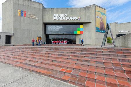 Ecuador May 2018 Signing in at Pumapungo Museum  in Cuenca . Entrance hall.